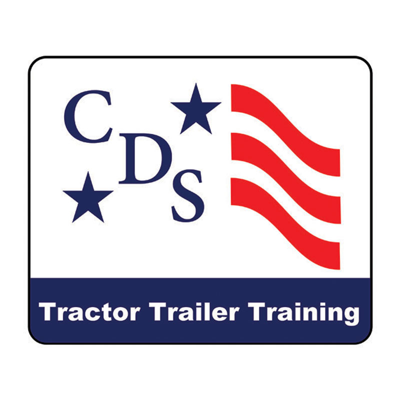 cds logo in red, white, and blue