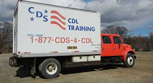 cds box truck with red cab
