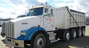 white cds dump truck