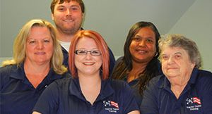 five members of the cds fredericksburg admissions team