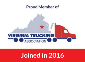virginia trucking association logo with red bar stating cds joined in 2016