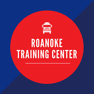 blue box with red circle in middle saying Roanoke Training Center