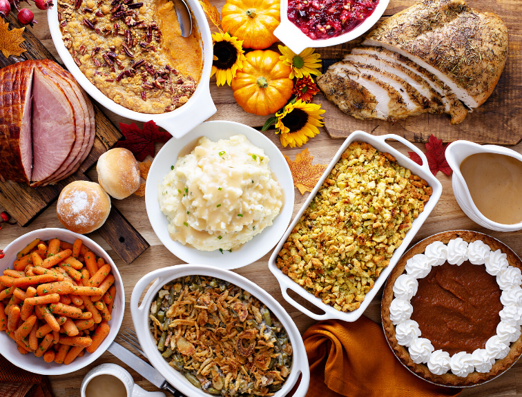 Image of a Thanksgiving feast