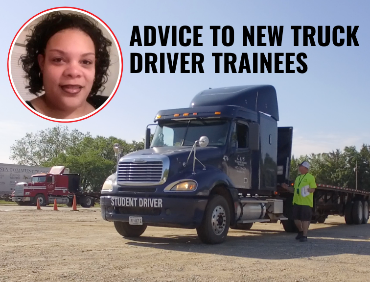 cds training truck with photo of Taherra Johnson